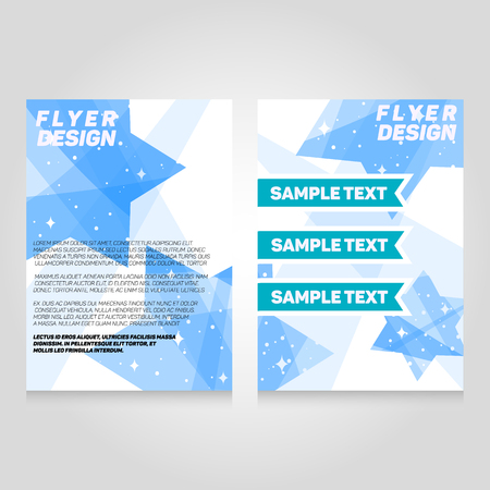 flier: Brochure flier design template. Vector concert poster illustration. Leaflet cover layout in A4 size.