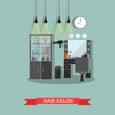 Beauty Salon Interior Concept Banners. Hair Style Design Studio ...