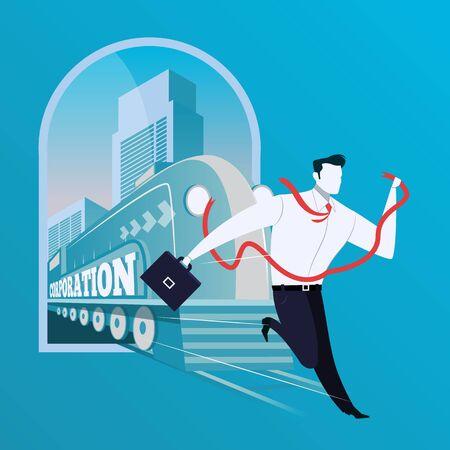 Business risk concept vector illustration in flat design