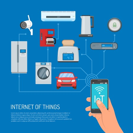 business security: Internet of Things vector concept illustration in flat design Illustration