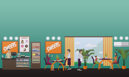 eatery: Eatery concept vector illustration in flat style.