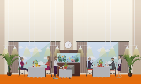fine dining: Good restaurant concept vector illustration in flat style Illustration