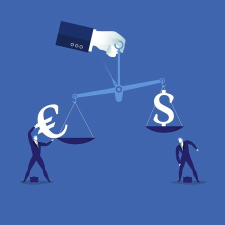 Currency balance concept vector illustration
