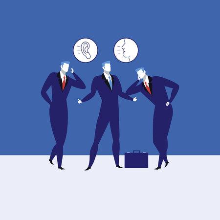 Gran comunicación habilidades concepto vector ilustración.