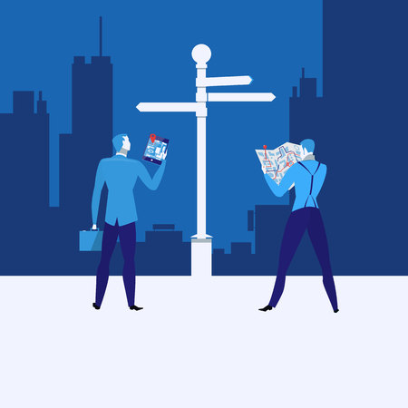 predicament: Business strategy concept vector illustration in flat style Illustration