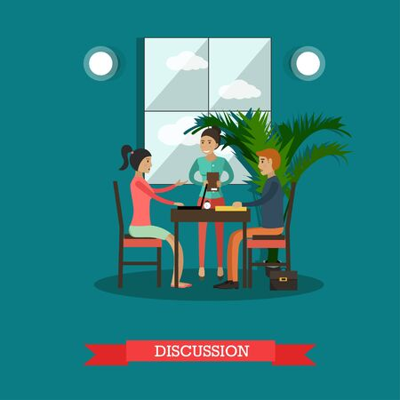 Discussion concept vector illustration in flat style