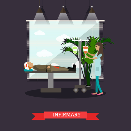 infirmary: Infirmary concept vector illustration in flat style