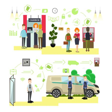Banking concept vector illustration in flat style