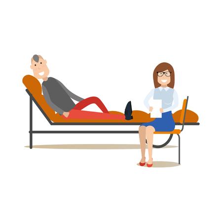 Psychotherapist concept vector illustration in flat style 向量圖像