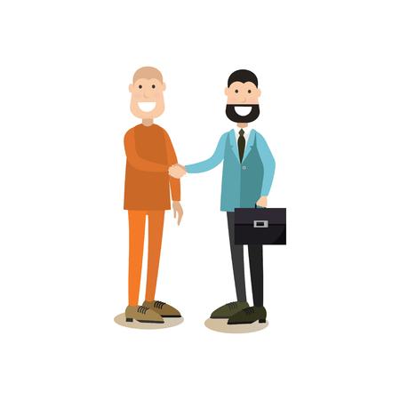 Ilustración de vector de gente de corte de ley en estilo plano Ilustración de vector