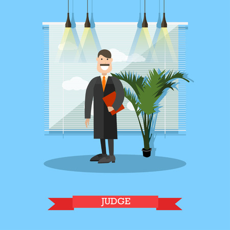 Judge vector illustration in flat style