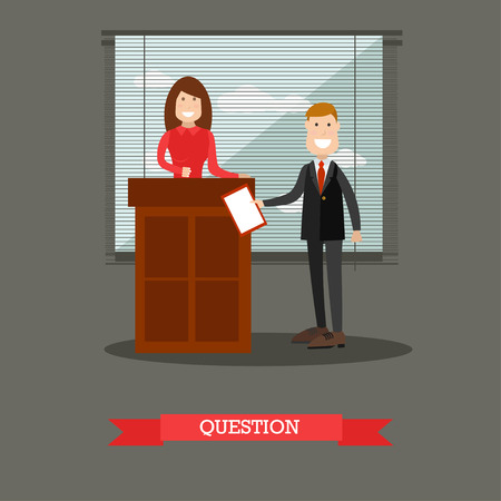 Lawyer vector illustration in flat style