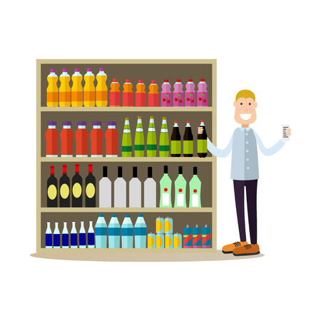 People shopping vector illustration in flat style