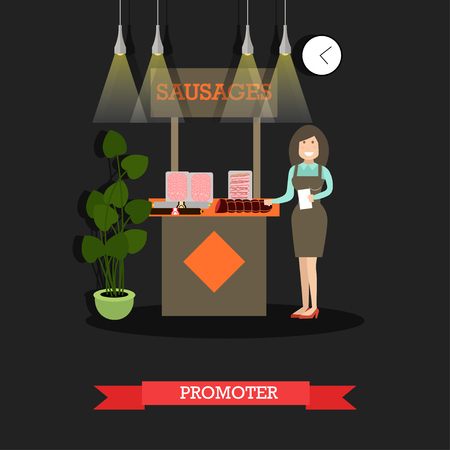 Promoter concept vector illustration in flat style  イラスト・ベクター素材