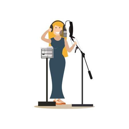 Radio people vector illustration in flat style Illustration