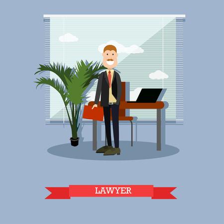 Lawyer vector illustration in flat style Vektorové ilustrace
