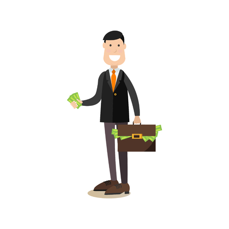 Investor concept illustration in flat style