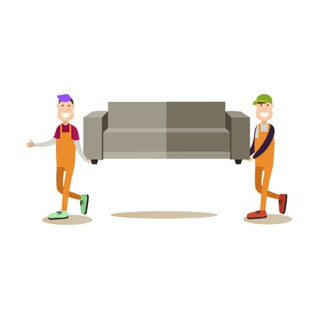 Shipping concept vector illustration in flat style
