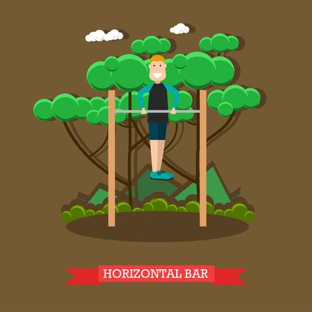 Horizontal bar vector illustration in flat style Stock Photo