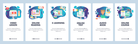Mobile App Onboarding Screens  Online Education And Internet