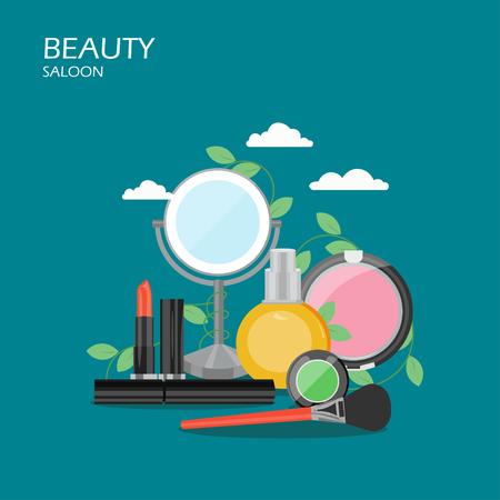 Beauty saloon vector flat style design illustration