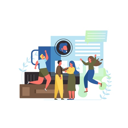 About us vector flat style design illustration