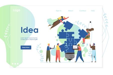 Idea vector website landing page design template Ilustração