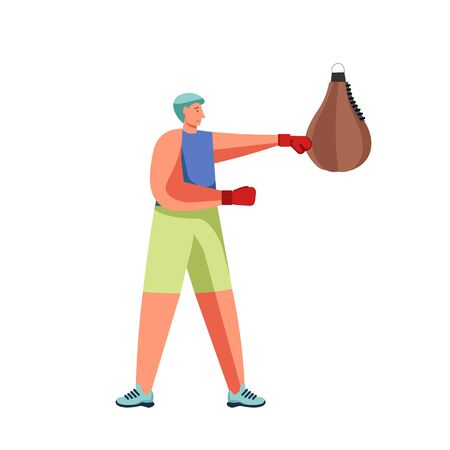 Fitness and gym people vector flat isolated illustration