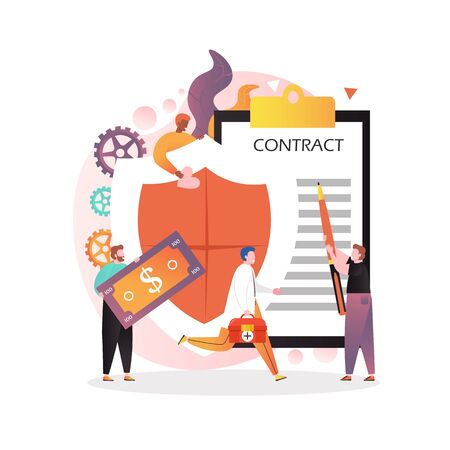 Insurance vector concept for web banner, website page Illustration
