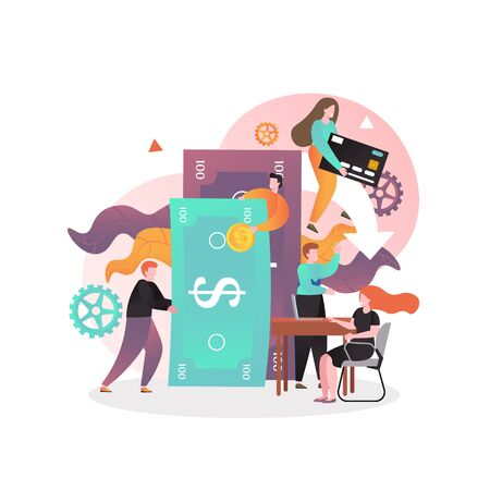 Banking business vector concept for web banner, website page Vecteurs