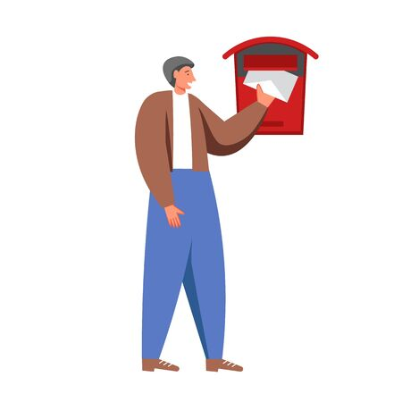 Postal mail services vector flat isolated illustration