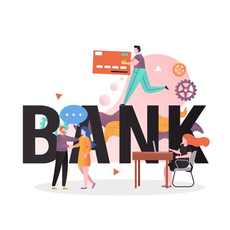 Banking business vector concept for web banner, website page
