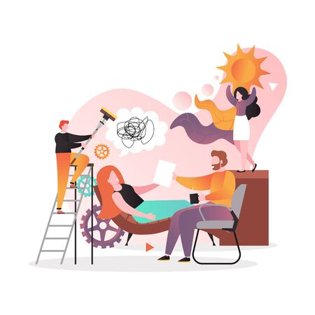 Counselling and psychological services vector concept for web banner, website page Ilustração Vetorial