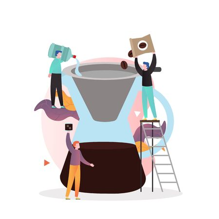 coffee vector concept for web banner, website page Vetores