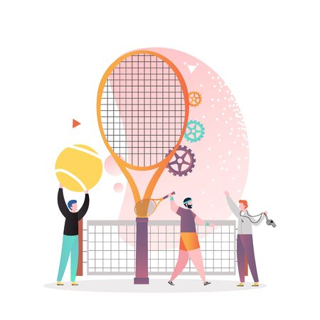 Tennis game vector concept for web banner, website page