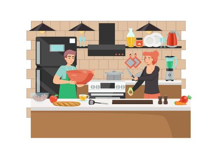 Culinary blog, vector flat style design illustration