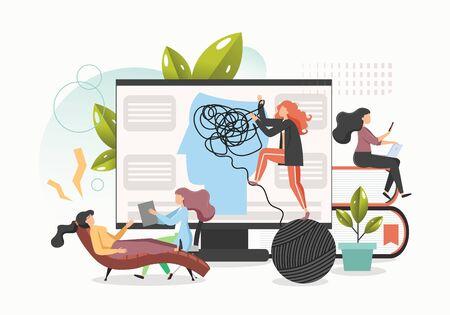 Psychology concept vector flat style design illustration Ilustracja