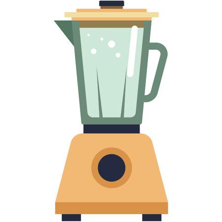 Blender icon, flat vector isolated illustration. Kitchen household appliances.