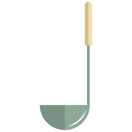 Kitchen laddle icon, flat vector isolated illustration. Kitchen utensils. 矢量图像