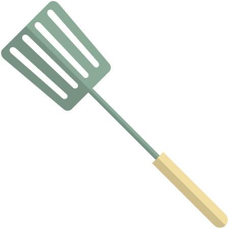 Kitchen spatula icon, flat vector isolated illustration. Kitchen cooking utensils.