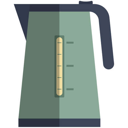 Electric kettle icon, flat vector isolated illustration. Kitchen household appliances.