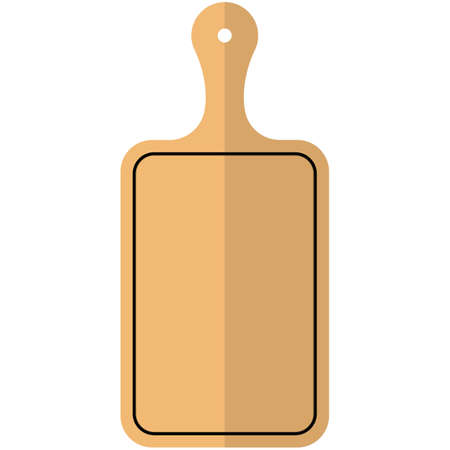 Kitchen cutting board icon, flat vector isolated illustration. Kitchen cooking utensils.