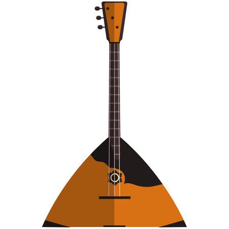Balalaika, music icon, flat vector isolated illustration. Russian folk string musical instrument.