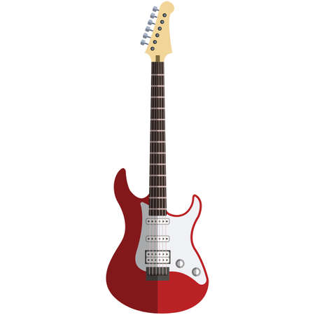 Electric guitar, music icon, flat vector isolated illustration. String musical instrument. 矢量图像