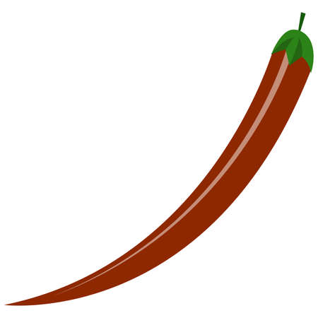 Chili pepper icon, flat vector isolated illustration. Farm fresh vegetable. Healthy food.