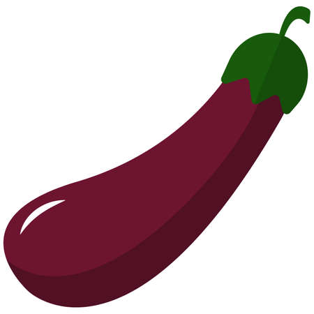Eggplant icon, flat vector isolated illustration. Farm fresh vegetable. Healthy food.