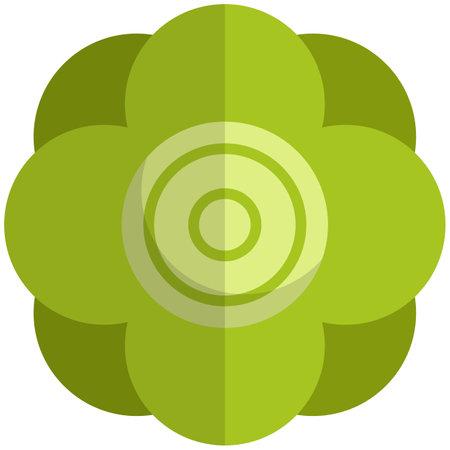 Lettuce icon, flat vector isolated illustration. Farm fresh leaf vegetable. Healthy organic food. Vegetarian nutrition.