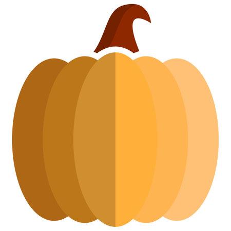 Pumpkin icon, flat vector isolated illustration. Farm fresh vegetable. Healthy food. 矢量图像
