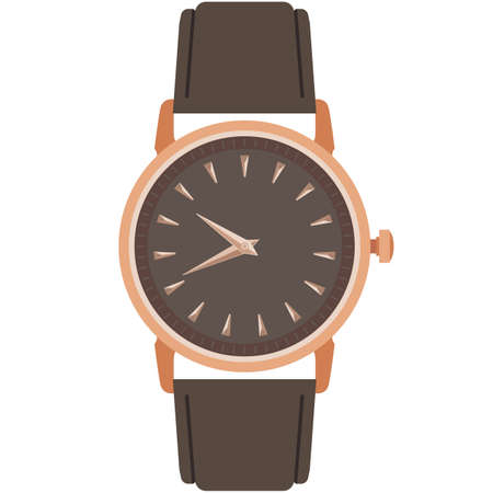 Classic male wrist watch vector isolated on white background 矢量图像