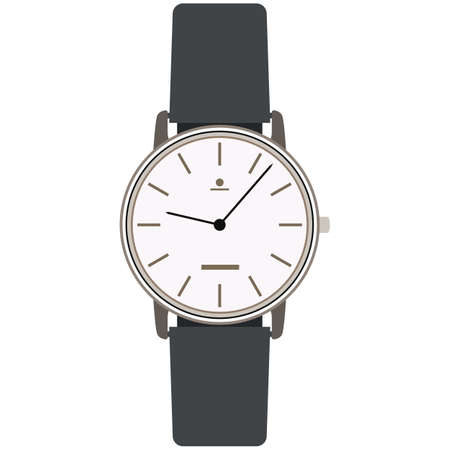 Elegant classic analog wrist watch vector isolated on white